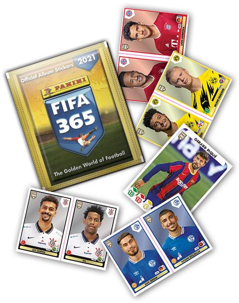 PANINI FIFA 365 STICKERS 2021 VUE GENERALE