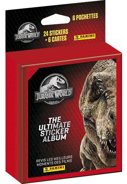PANINI JURASSIC WORLD ULTIMATE STICKERS BLISTER 6 POCHETTES