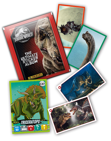 PANINI JURASSIC WORLD ULTIMATE STICKERS VUE GENERALE