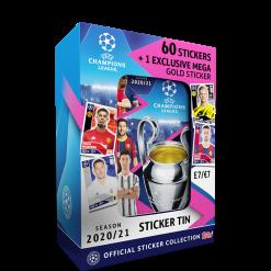 TOPPS UEFA CHAMPIONS LEAGUE 2020-21 BOITE METAL