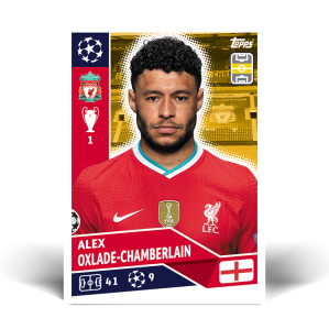 TOPPS UEFA CHAMPIONS LEAGUE 2020-21 OXLADE-CHAMBERLAIN