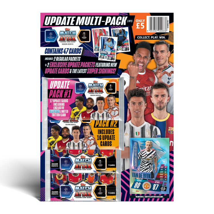 TOPPS UEFA CHAMPIONS LEAGUE 2020-21 PACK UPDATE 01