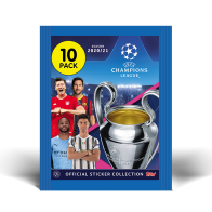 TOPPS UEFA CHAMPIONS LEAGUE 2020-21 POCHETTE 10 STICKERS