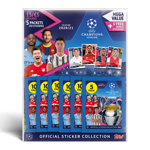 TOPPS UEFA CHAMPIONS LEAGUE 2020-21 STICKERS MULTIPACK