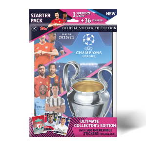TOPPS UEFA CHAMPIONS LEAGUE 2020-21 STICKERS STARTER PACK