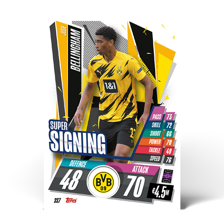 TOPPS UEFA CHAMPIONS LEAGUE 2020-21 SUPER SIGNING BELLINGHAM