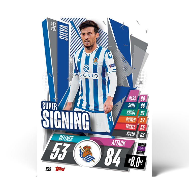 TOPPS UEFA CHAMPIONS LEAGUE 2020-21 SUPER SIGNING SILVA