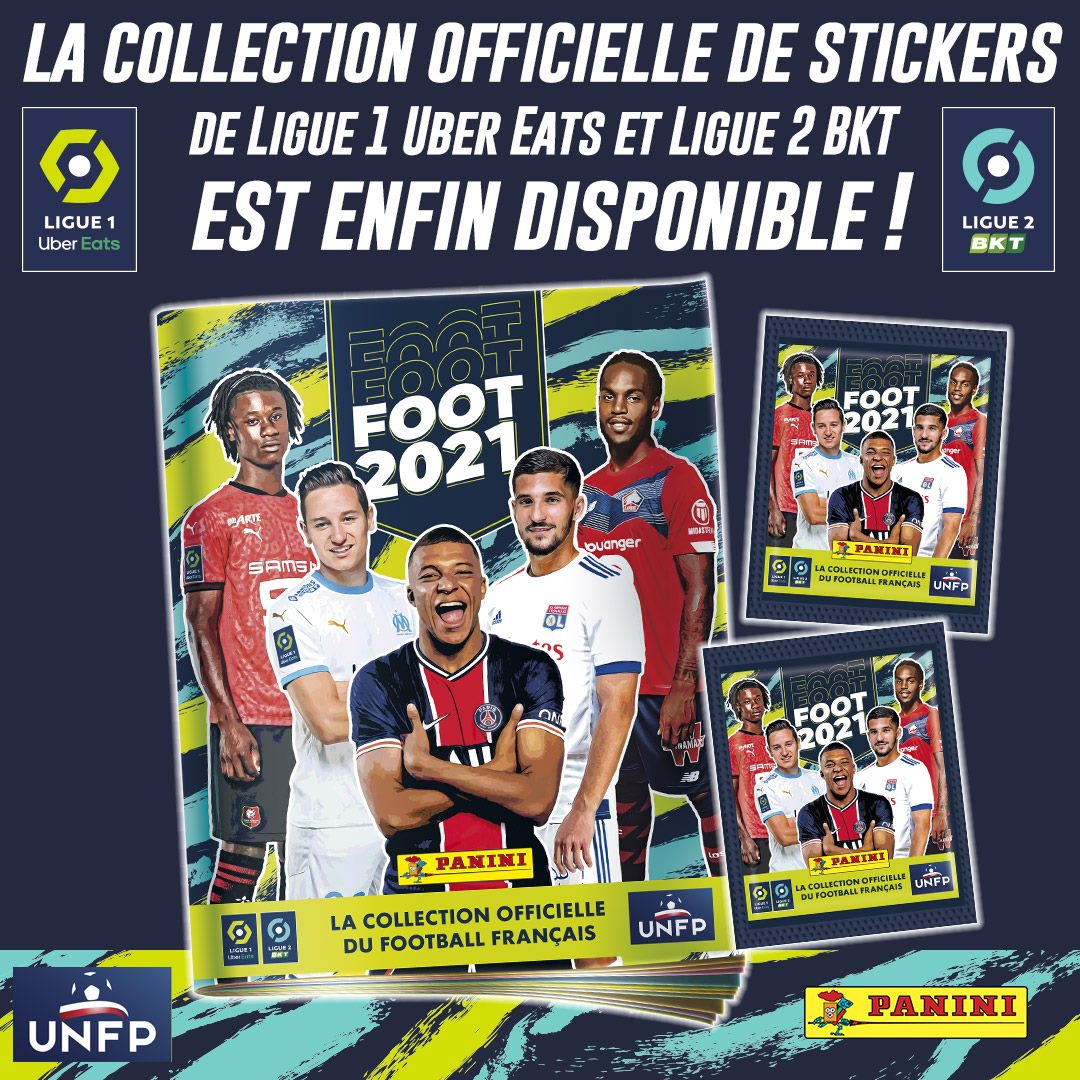 PANINI FOOT LIGUE 1 2021 ANNONCE FACEBOOK TWITTER