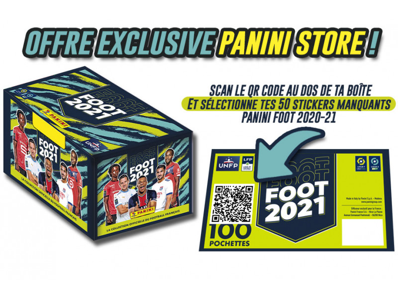 PANINI FOOT LIGUE 1 2021 CODE 50 STICKERS MANQUANTS