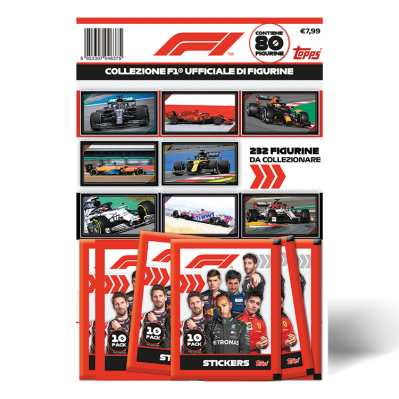 TOPPS ITALIE FORMULA ONE STICKERS 20-21 MULTIPACK DE 8 POCHETTES