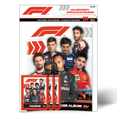 TOPPS ITALIE FORMULA ONE STICKERS 20-21 PACK DE DEMARRAGE
