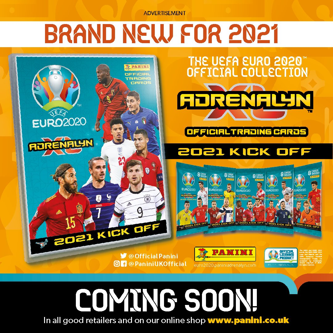 PANINI ADRENALYN XL EURO 2021 KICK OFF ANNONCE RS