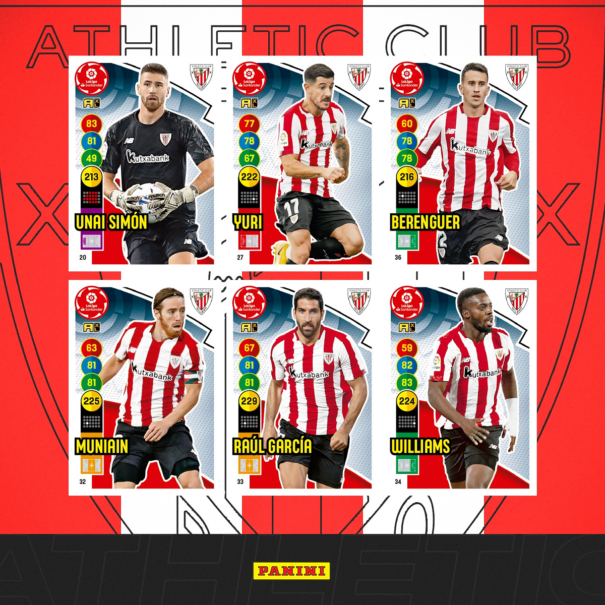 PANINI ADRENALYN XL LIGA 2020-21 ANNONCE CARTES DE BASE ATHLETICO