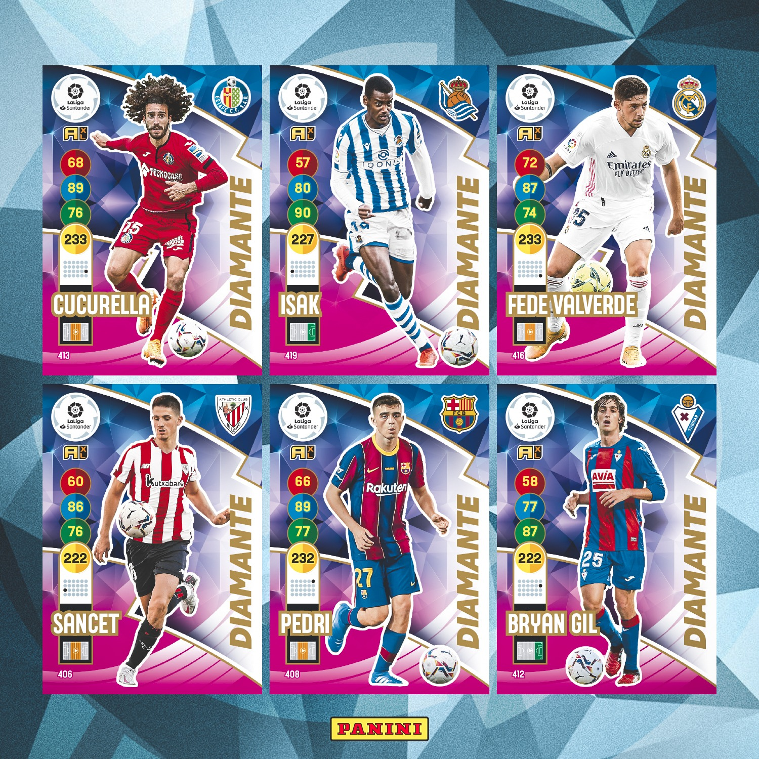 PANINI ADRENALYN XL LIGA 2020-21 ANNONCE CARTES DIAMANTE