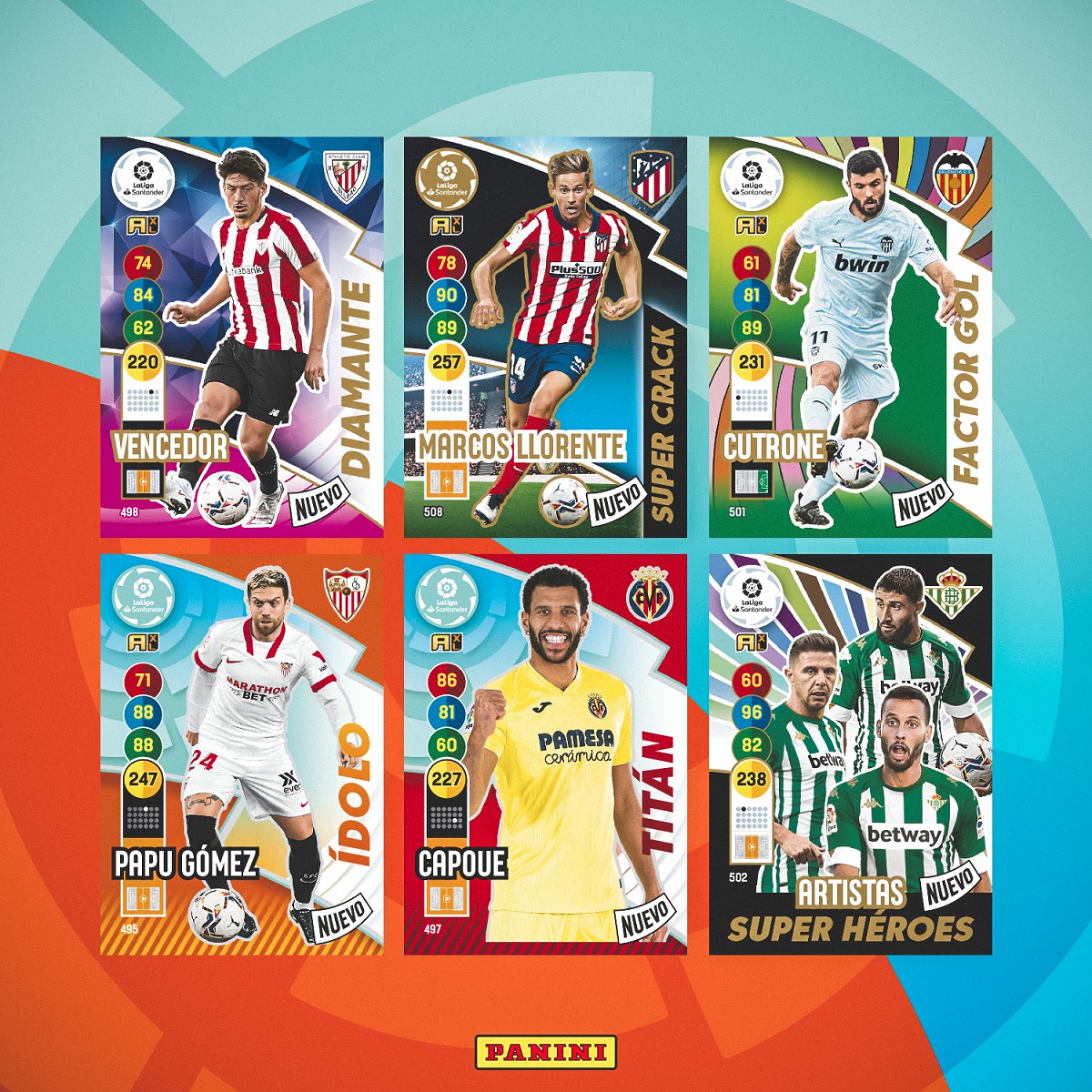 PANINI ADRENALYN XL LIGA 2020-21 ANNONCE CARTES UPDATE MARS 2021