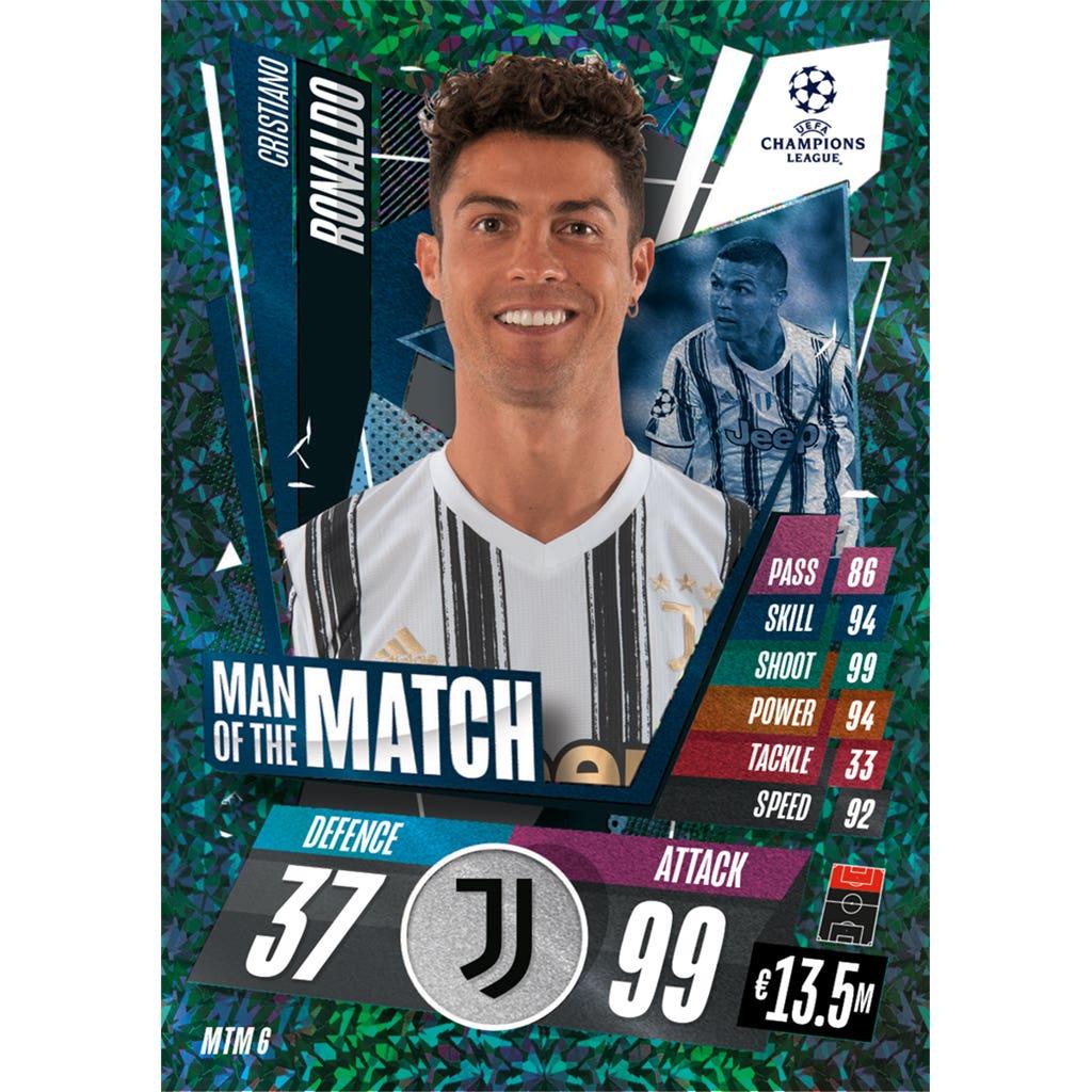TOPPS MATCH ATTAX CHAMPIONS LEAGUE 2020-21 MAN OF THE MATCH MTM6 RONALDO