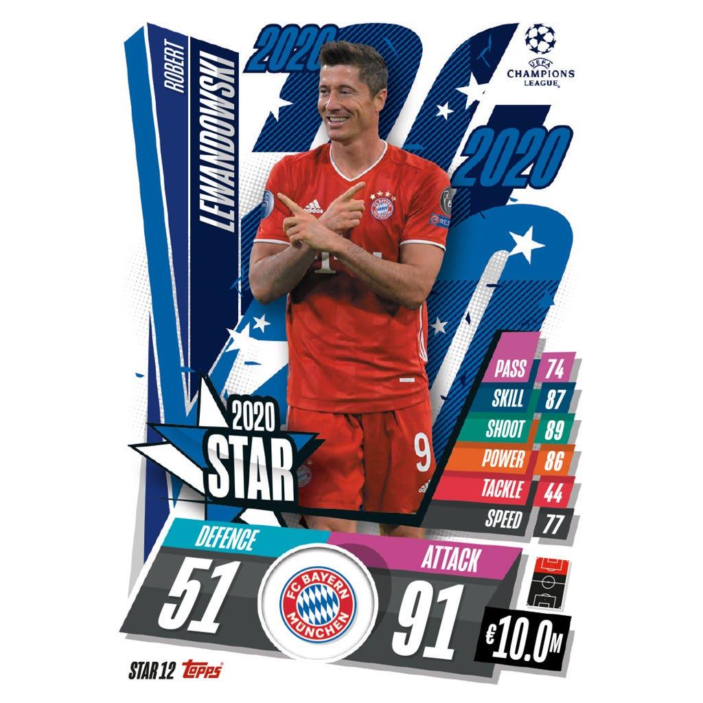 TOPPS MATCH ATTAX CHAMPIONS LEAGUE 2020-21 STAR12 LEWANDOWSKI