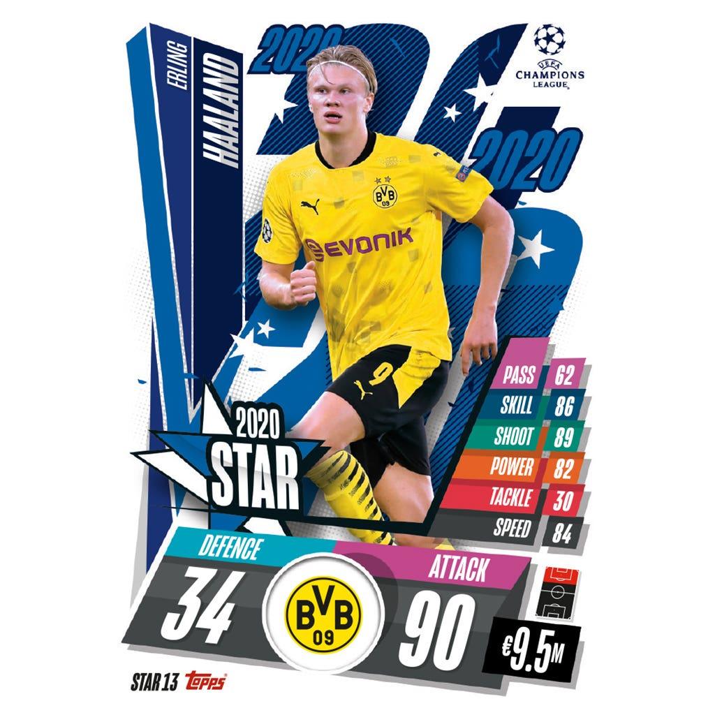 TOPPS MATCH ATTAX CHAMPIONS LEAGUE 2020-21 STAR13 HAALAND