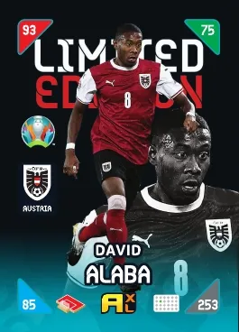 PANINI ADRENALYN XL EURO 2020 KICK OFF 2021 CARTE LIMITED EDITION ALABA