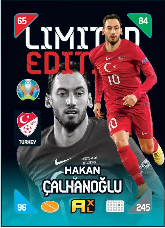 PANINI ADRENALYN XL EURO 2020 KICK OFF 2021 CARTE LIMITED EDITION CALHANOGLU