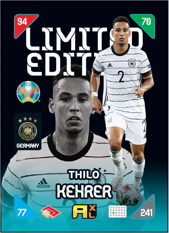 PANINI ADRENALYN XL EURO 2020 KICK OFF 2021 CARTE LIMITED EDITION KEHRER