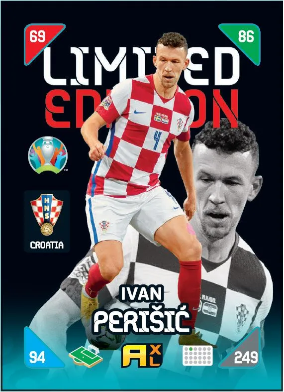 PANINI ADRENALYN XL EURO 2020 KICK OFF 2021 CARTE LIMITED EDITION PERISIC