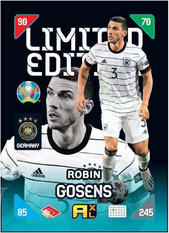 PANINI ADRENALYN XL EURO 2020 KICKOFF 2021 CARTE LIMITED EDITION GOSENS