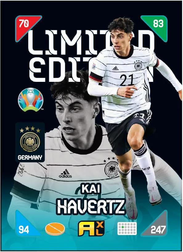 PANINI ADRENALYN XL EURO 2020 KICKOFF 2021 CARTE LIMITED EDITION HAVERTZ