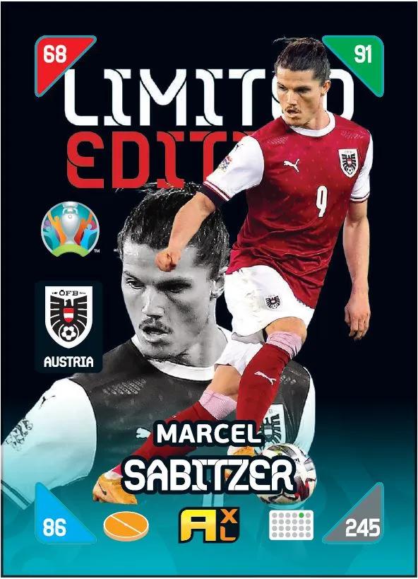 PANINI ADRENALYN XL EURO 2020 KICKOFF 2021 CARTE LIMITED EDITION SABITZER
