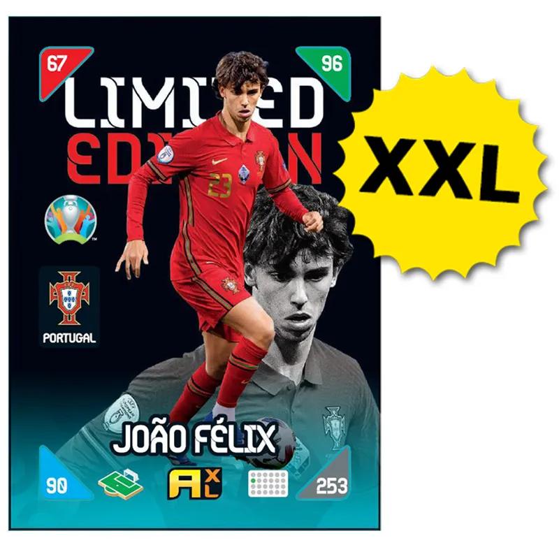 PANINI ADRENALYN XL EURO 2020 KICKOFF 2021 CARTE LIMITED EDITION XXL JOAO FELIX