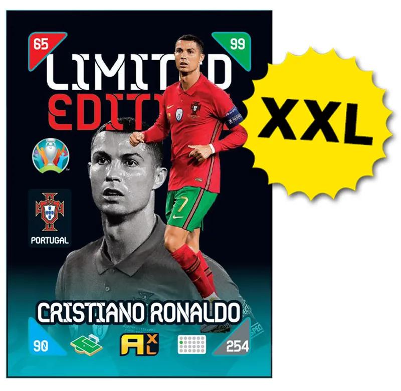 PANINI ADRENALYN XL EURO 2020 KICKOFF 2021 CARTE LIMITED EDITION XXL RONALDO