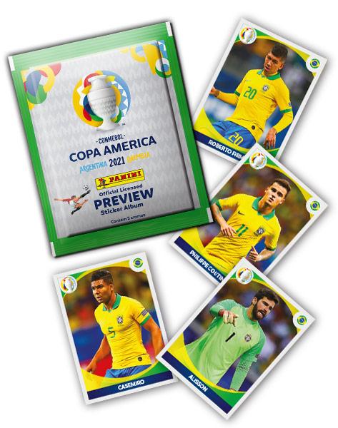 PANINI COPA AMERICA 2021 PREVIEW VUE GENERALE