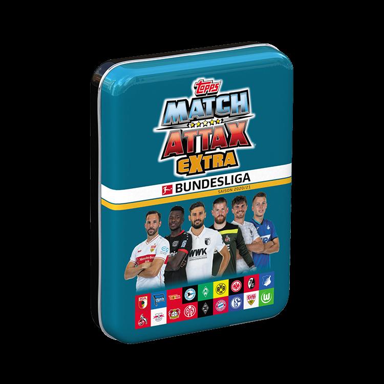 TOPPS MATCH ATTAX EXTRA BUNDESLIGA 2020-21 PETITE BOITE EN METAL BLEUE