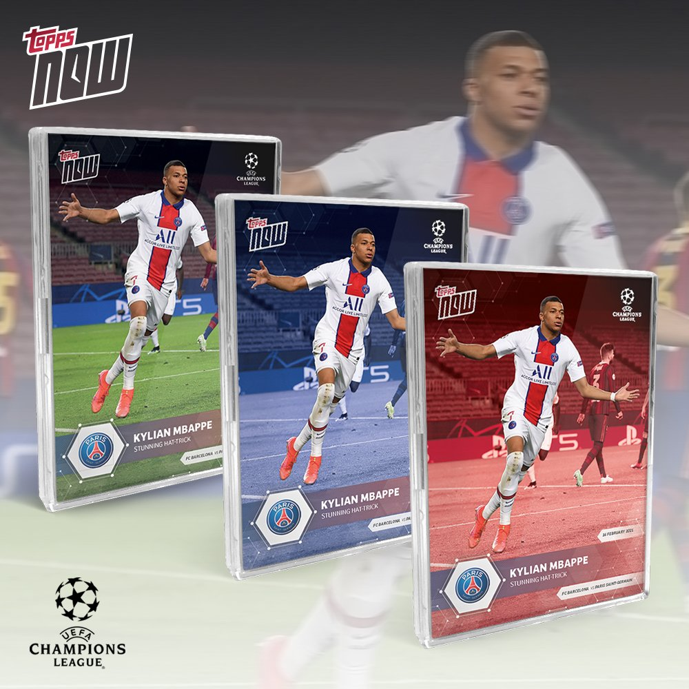TOPPS NOW MBAPPE HAT-TRICK 170221