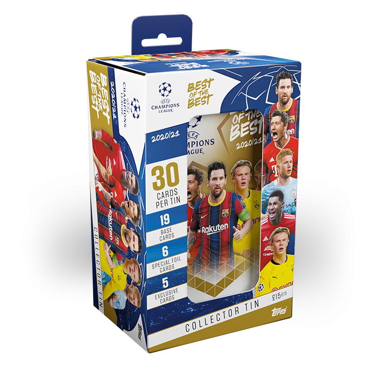 TOPPS UEFA CHAMPIONS LEAGUE BEST OF THE BEST 2020-21 BOITE METAL COLLECTOR EMBALLAGE