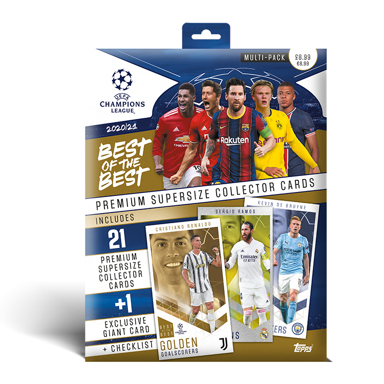 TOPPS UEFA CHAMPIONS LEAGUE BEST OF THE BEST 2020-21 MULTI-PACK
