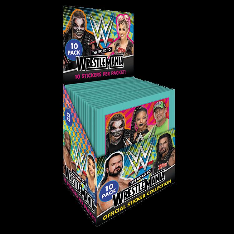 TOPPS WWE WRESTLEMANIA STICKERS 2021 BOITE DE 36 POCHETTES