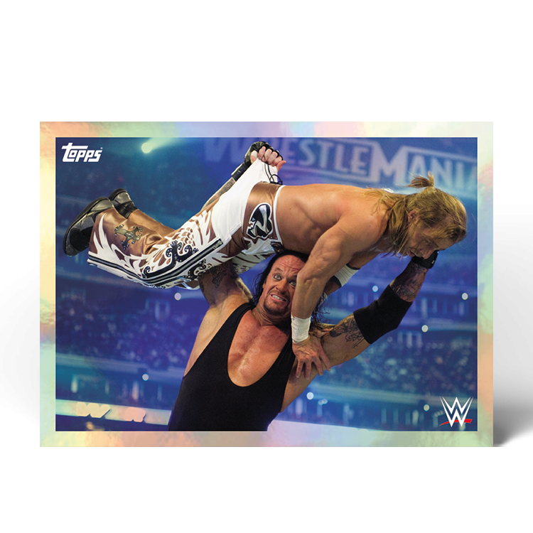 TOPPS WWE WRESTLEMANIA STICKERS 2021 EXEMPLE STICKER ACTION 02