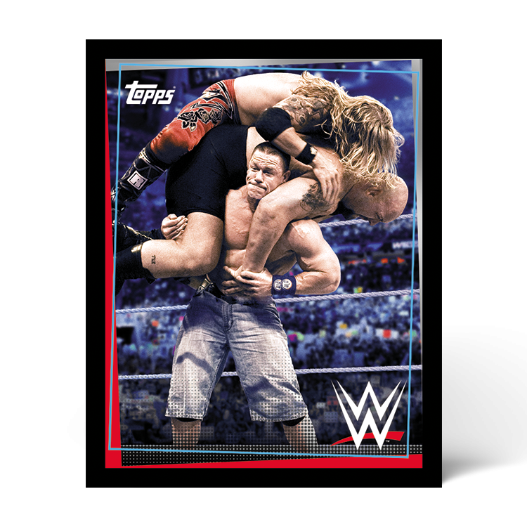 TOPPS WWE WRESTLEMANIA STICKERS 2021 EXEMPLE STICKER ACTION 03