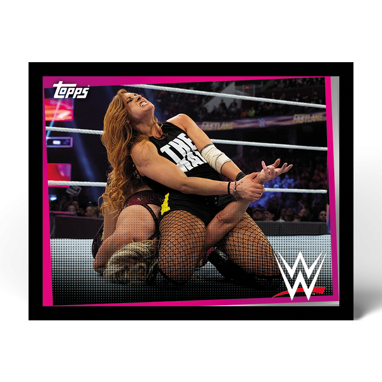 TOPPS WWE WRESTLEMANIA STICKERS 2021 EXEMPLE STICKER ACTION