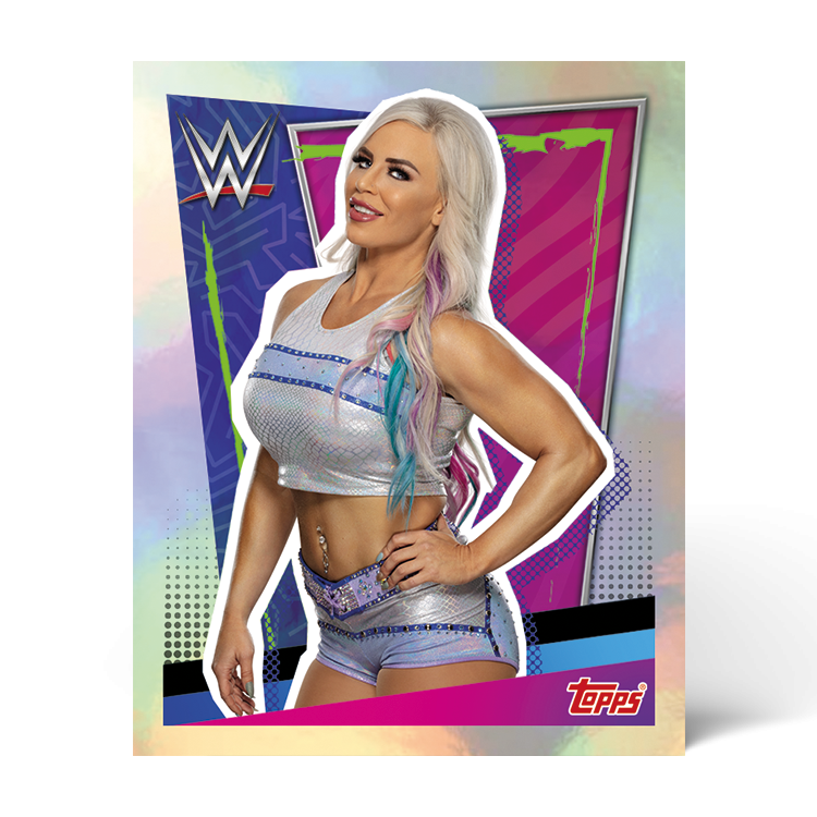 TOPPS WWE WRESTLEMANIA STICKERS 2021 EXEMPLE STICKER METAL 01