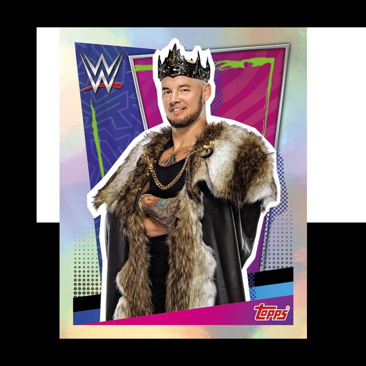 TOPPS WWE WRESTLEMANIA STICKERS 2021 EXEMPLE STICKER METAL 02