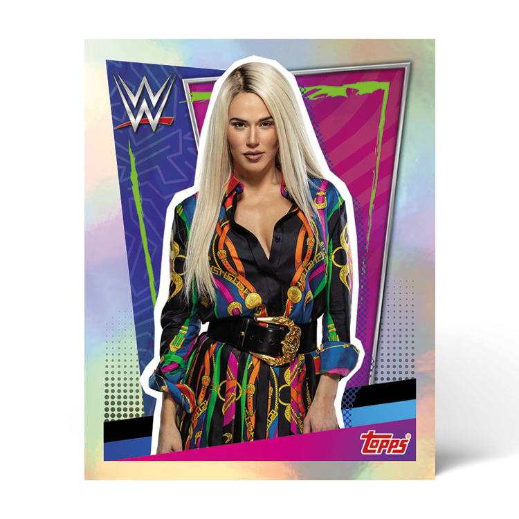TOPPS WWE WRESTLEMANIA STICKERS 2021 EXEMPLE STICKER METAL 03