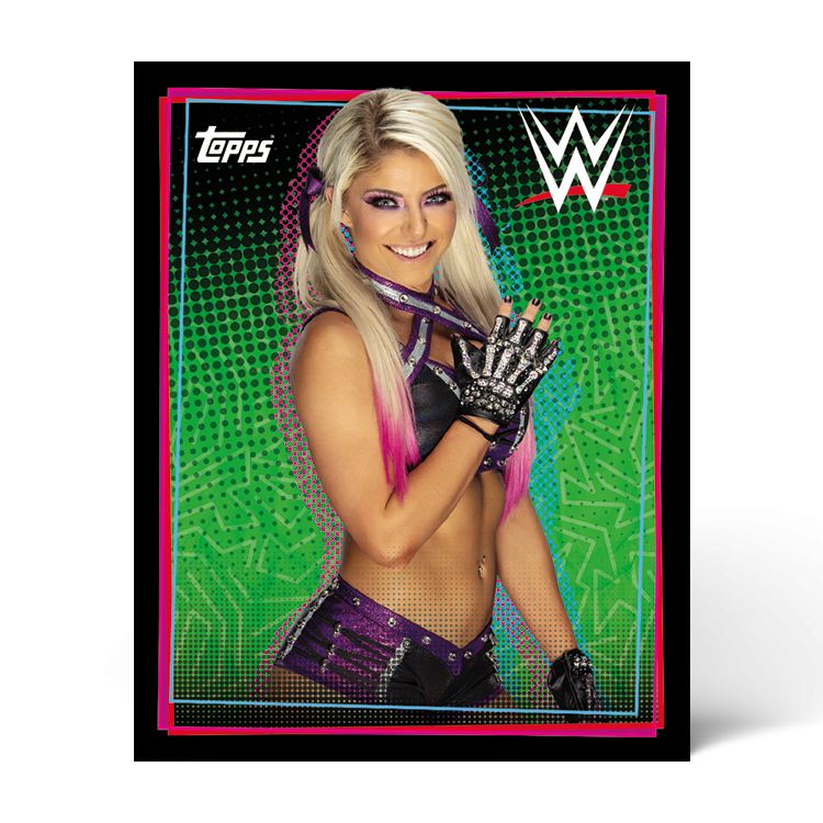 TOPPS WWE WRESTLEMANIA STICKERS 2021 EXEMPLE STICKER PORTRAIT 02
