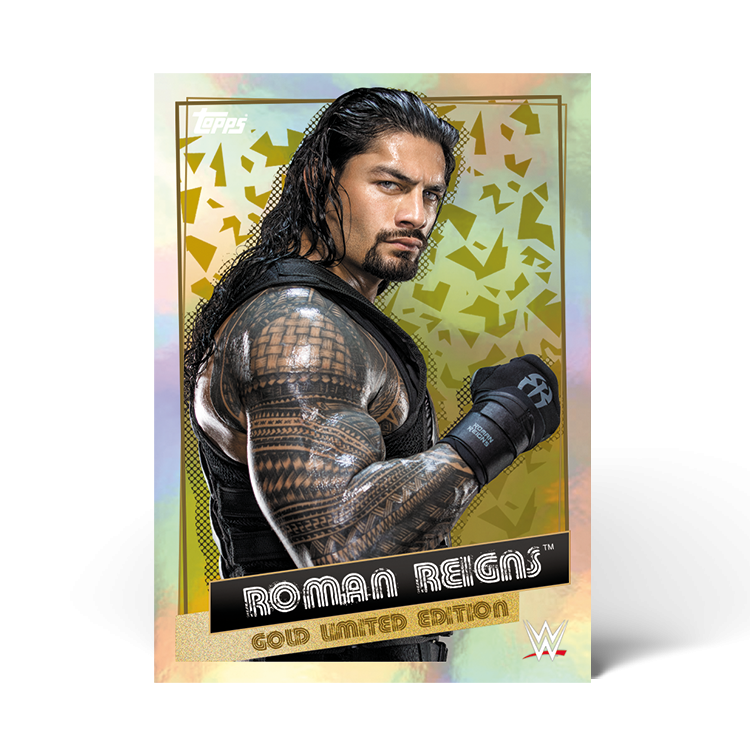 TOPPS WWE WRESTLEMANIA STICKERS 2021 LIMITED EDITION ROMAN REIGNS