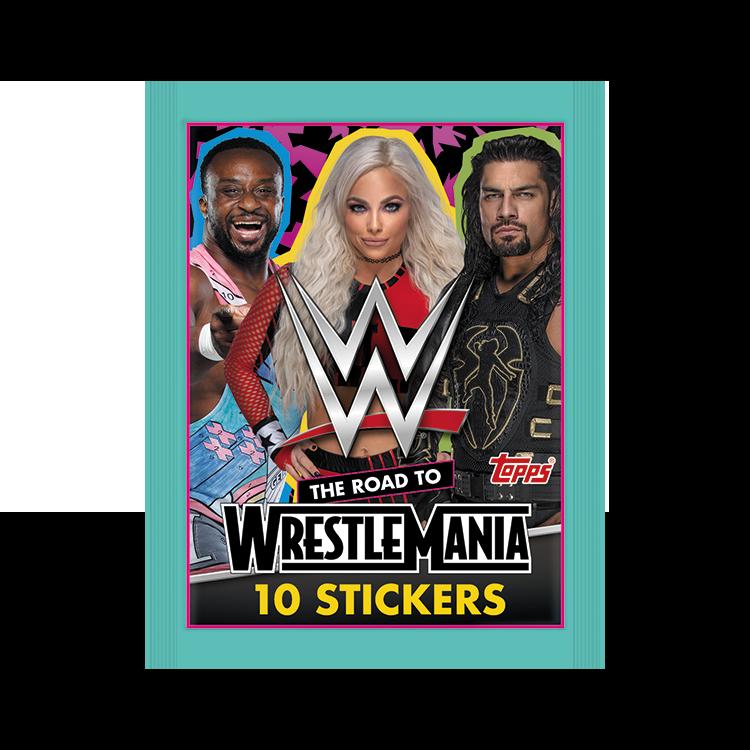 TOPPS WWE WRESTLEMANIA STICKERS 2021 POCHETTE DE 10 STICKERS MODELE 01