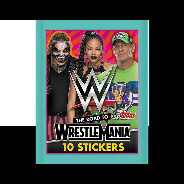 TOPPS WWE WRESTLEMANIA STICKERS 2021 POCHETTE DE 10 STICKERS MODELE 02