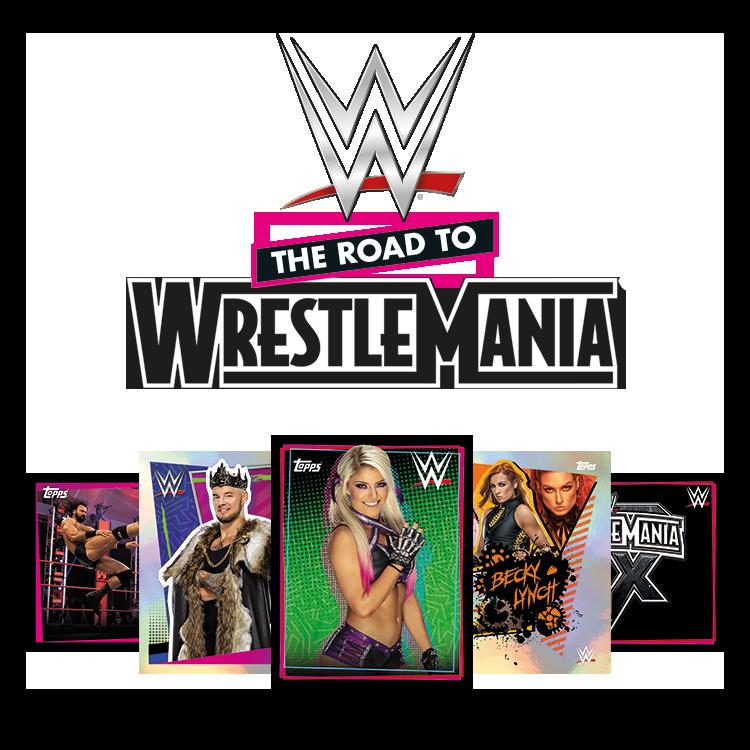 TOPPS WWE WRESTLEMANIA STICKERS 2021 VISUEL