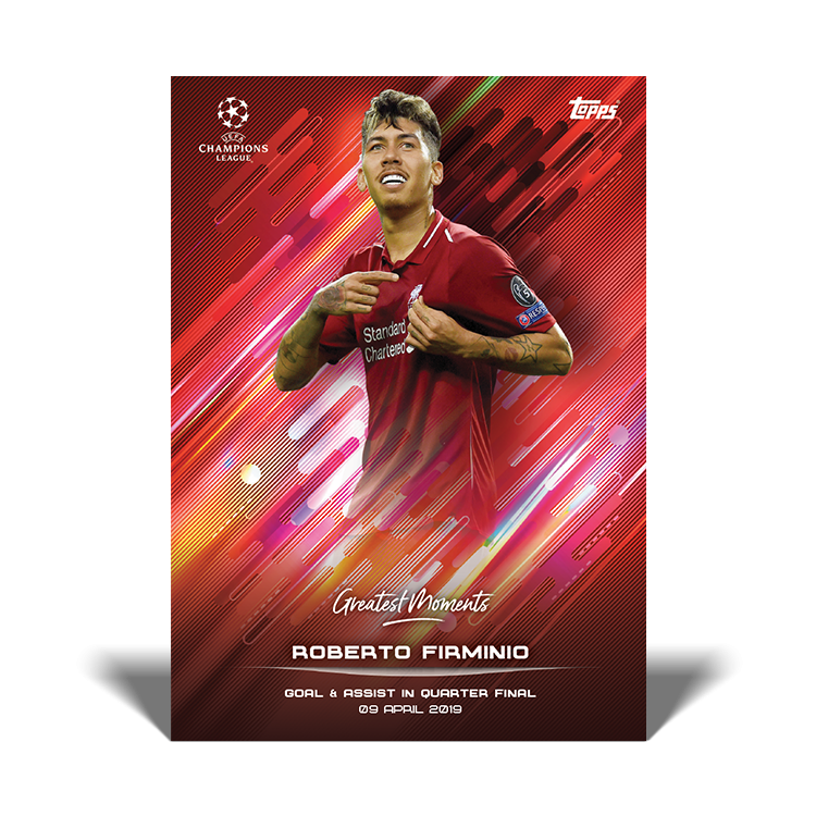 TOPPS DESIGNED BY ROBERTO FIRMINO CARTE GREATEST MOMENTS FIRMINO