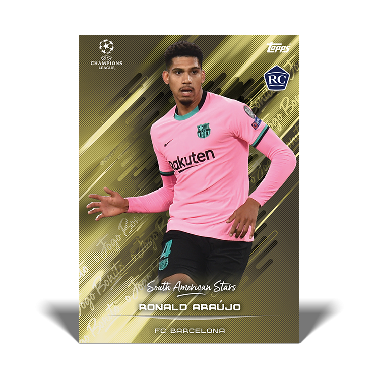 TOPPS DESIGNED BY ROBERTO FIRMINO CARTE SOUTH AMERICAN STARS ARAUJO